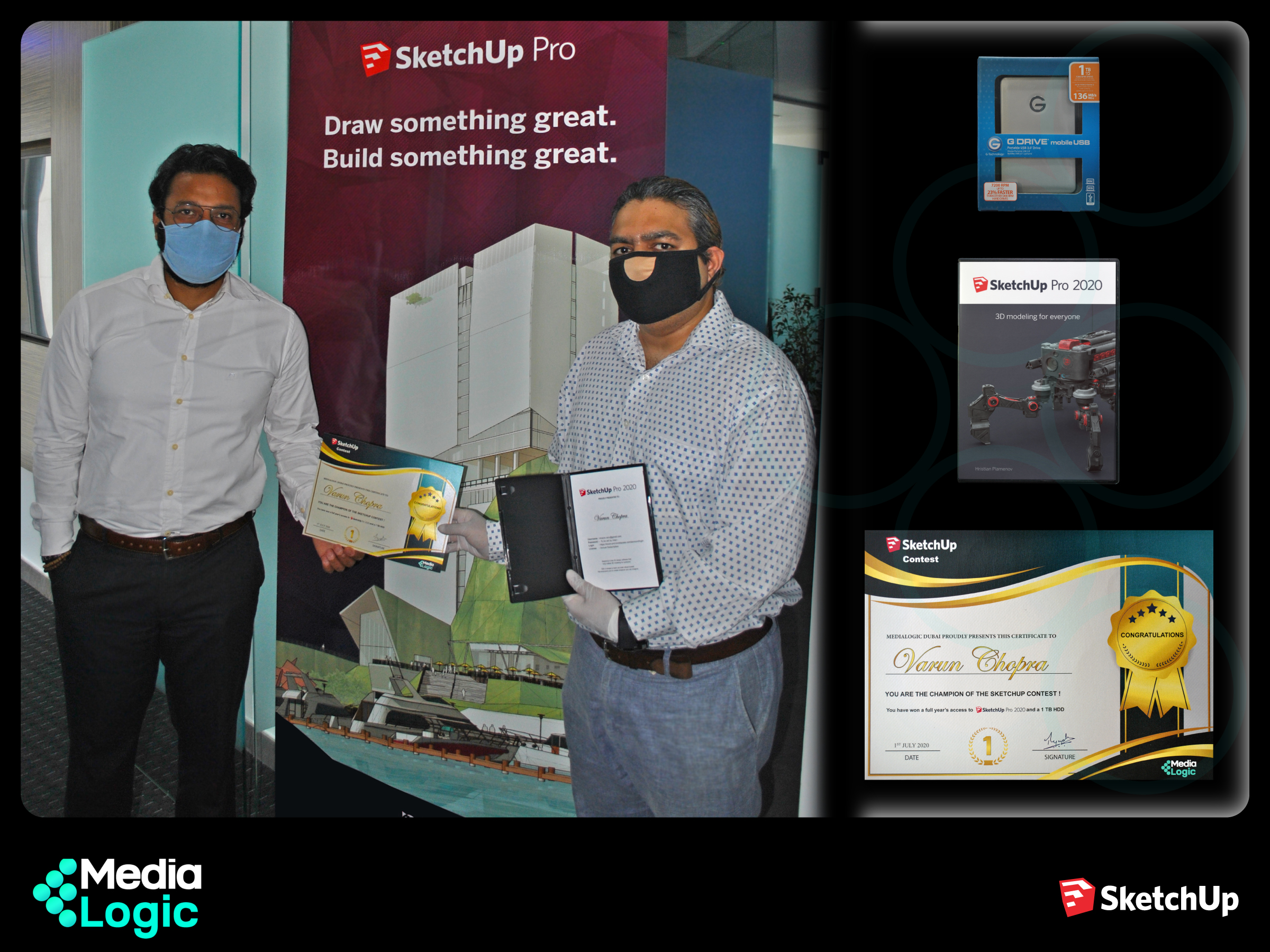 SketchUp Contest - The Winner receives his certificate & prizes !