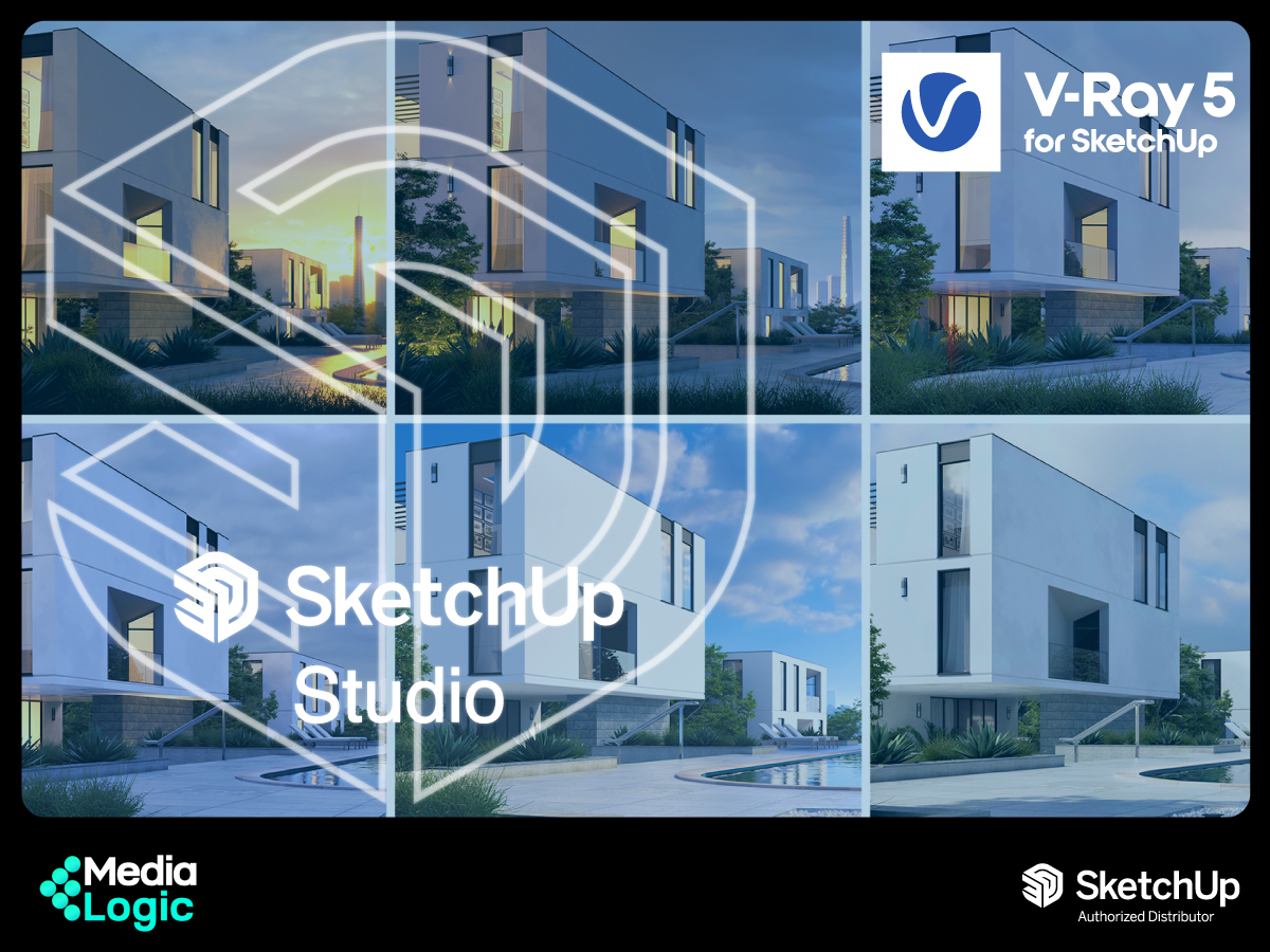 Experience world-class rendering with V-Ray 5 in SketchUp Studio